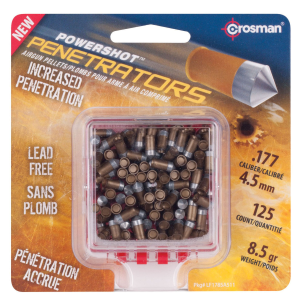 .177 Powershot Penetrators 8.5 Grain Lead Free Pellets - 125 Count