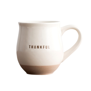 Thankful Clay Dipped Ceramic Mug
