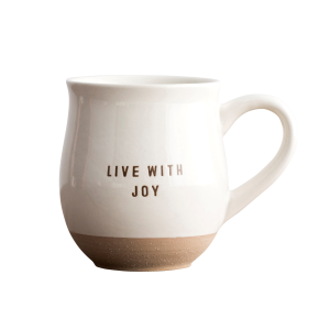 Live With Joy Clay Dipped Ceramic Mug