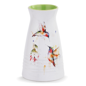 Summer Hummingbirds Vase
