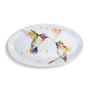 The Lovebirds Hummingbird Platter