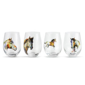 Equine Stemless Glass Set