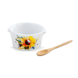 Sunflower Appetizer Bowl with Spoon