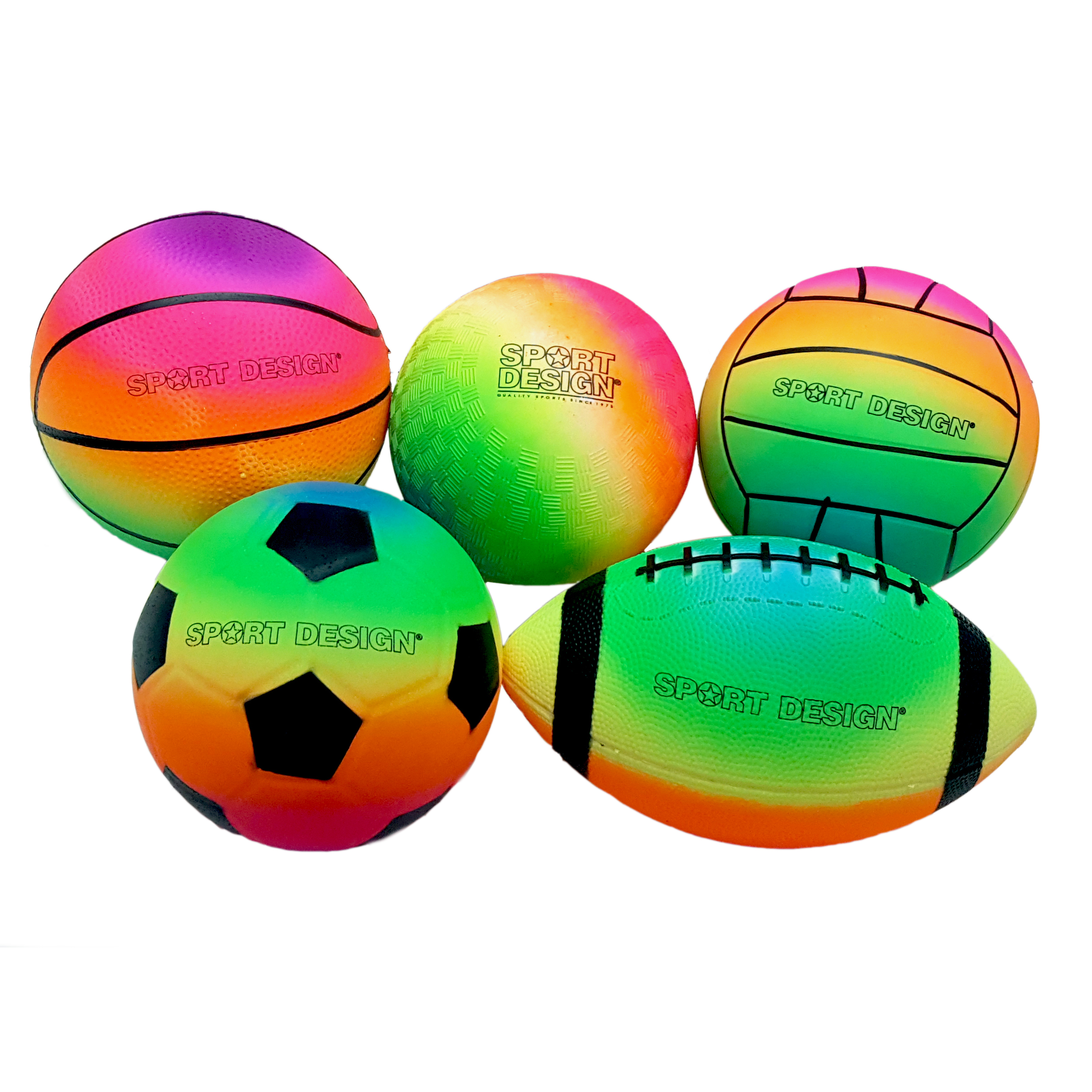 Sport Design Neon Rainbow Sports Balls Murdoch S