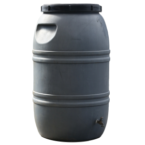 Used 55 Gallon Gray Olive Drum