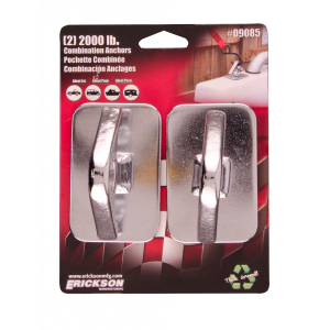 2-Pack 2,000 lb Chrome Combination Anchors