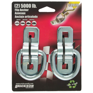 2-Pack 5,000 lb Wire Flip Anchor Rings