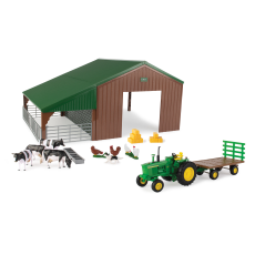 Tractor, Shed, and Animals image