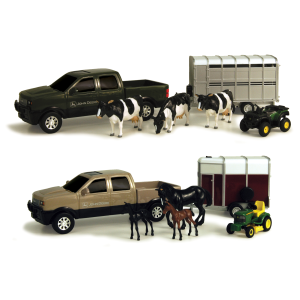 "John Deere 8"" Pickup Hauling Set with Animals - Assorted"