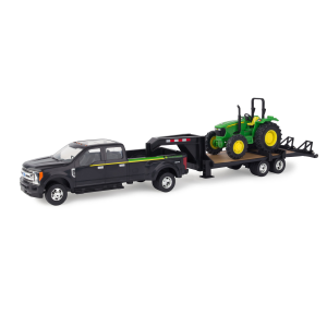 1:32 Scale John Deere 2017 Ford F-350 with Trailer and 5075E Tractor