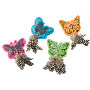 Whiskens Felt Butterfly Cat Toy with Catnip - Assorted