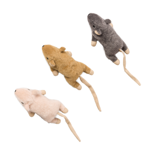 Flat Mouse Frankie Cat Toy with Catnip - Assorted