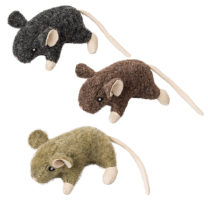 Wool Mouse Willie Cat Toy with Catnip - Assorted