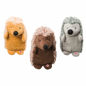 Corduroy Hedgehog Doy Toy - Assorted