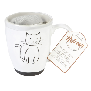 Pet Cat Ceramic Cup Gift Set