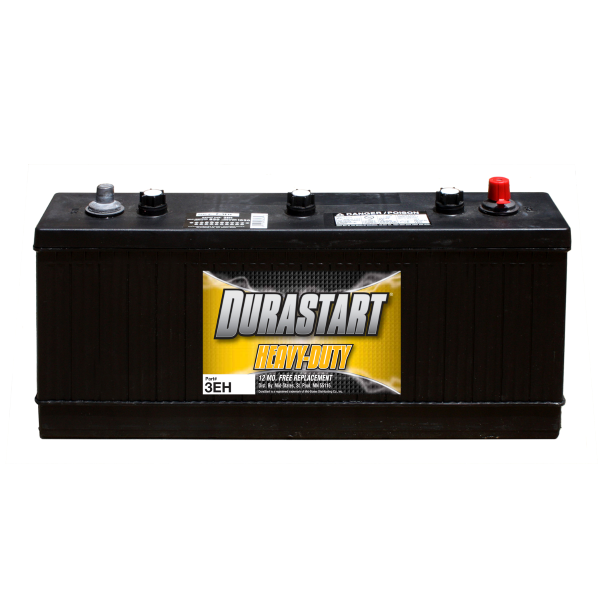 Durastart - 3EH - 850cca - BCI Group Size 30H - Heavy Duty / Commercial 6 Volt Battery