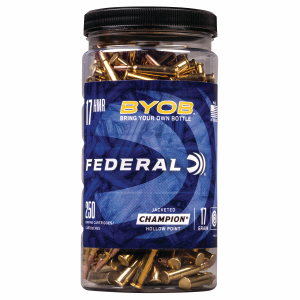 BYOB .17 HMR 17 Grain Jacketed Hollow Point Ammo - 250 Rounds