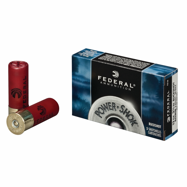 "Power-Shok 12 Gauge 2-3/4"" Shotshell 1-3/16 oz 00 Buck"