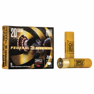"3rd Degree 20 Gauge 3"" Turkey Shotshell 1-1/2 oz #5-6-7"
