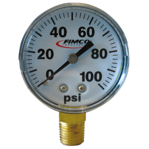 "2"" Dry Bottom Mount Pressure Gauge - 0-100 PSI"