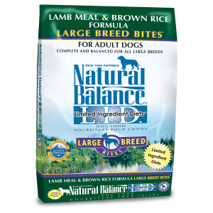 L.I.D. Limited Ingredient Diets Lamb Meal & Brown Rice Formula -Large Breed Bites