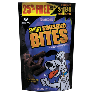 Smoky Sausage Bites Dog Treats
