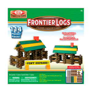Frontier Logs Classic All Wood 114-Piece Construction Set