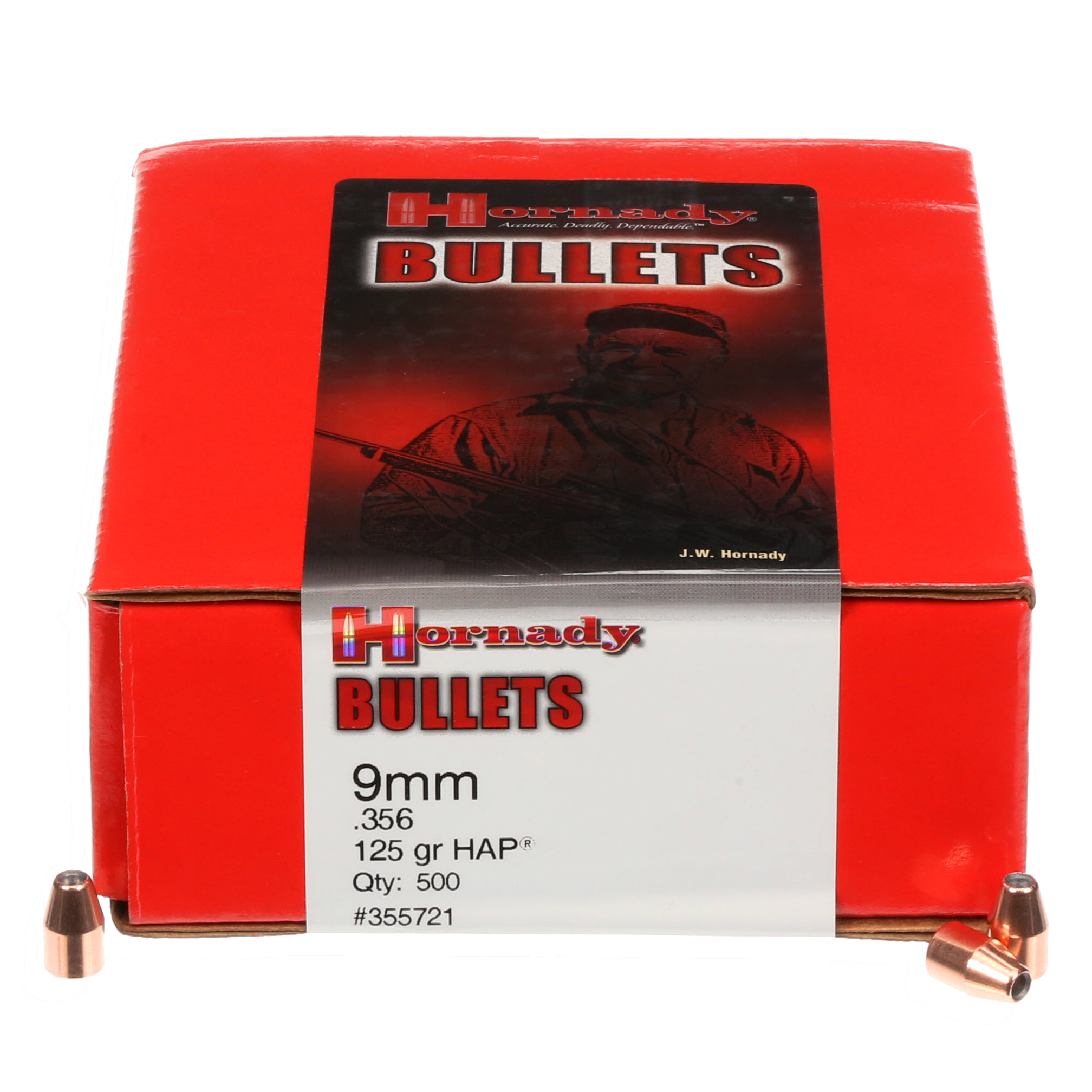 Murdoch's – Hornady - 9mm  356 125 Grain HAP Box of 500 Bullets