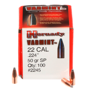 .22 Cal .224 50 Grain SP Bullets