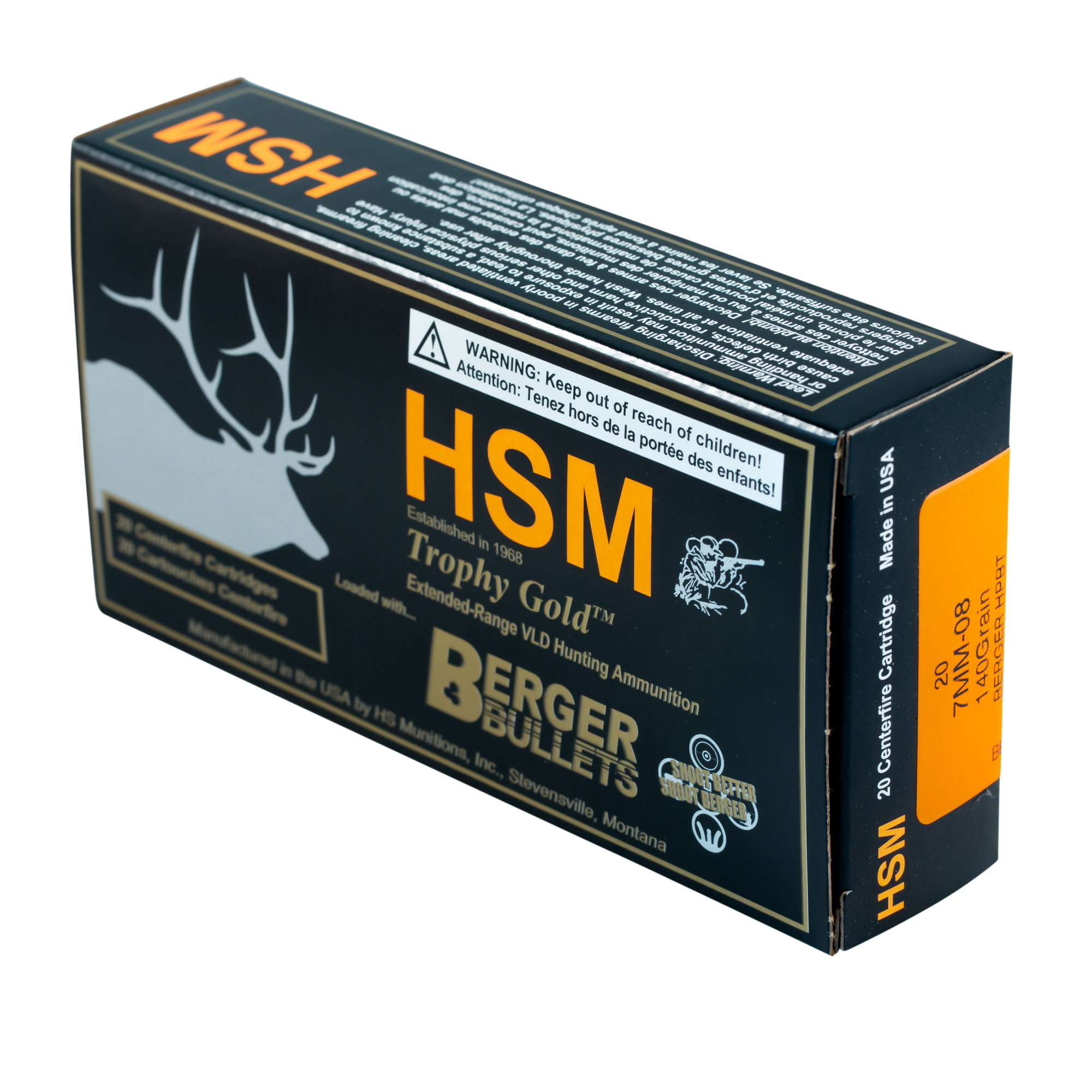 Murdoch's – HSM - 7mm-08 Rem 140 Grain Berger Hunting VLD Ammo