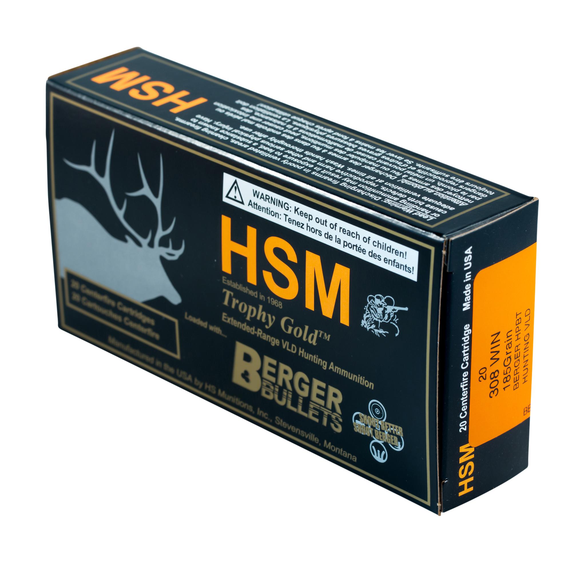 Murdoch's – HSM -  308 Win 185 Grain Berger Hunting VLD Ammo