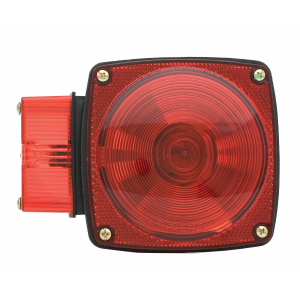 "5-3/4"" Left Side Square Stop/Turn/Tail Light without License Light Over 80"" Wide"