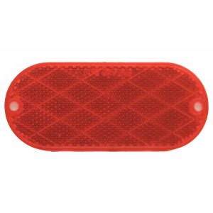 Oval Red Reflector