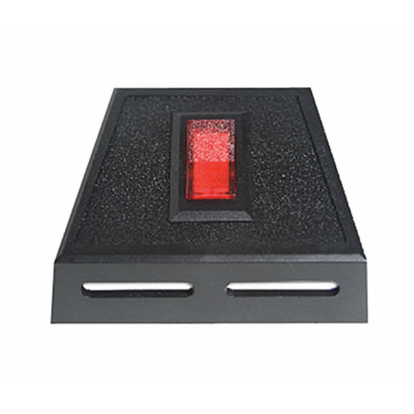 12V DC Red Rocker Switch with Bezel
