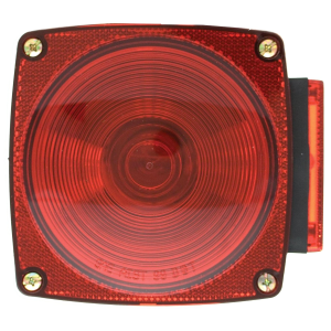 "4-1/2"" Left Side Square Stop/Turn/Tail Light without License Light Under 80"" Wide"