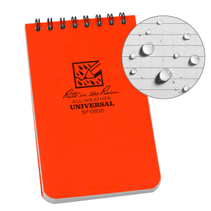 "3"" x 5"" Universal Notebook - Orange"