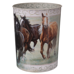 Running Horses Waste Basket