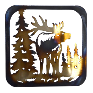 Elk Facing Forward  Trivet