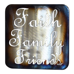 Faith, Family, Friends  Trivet