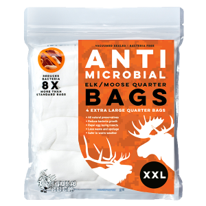 Anti-Microbial Elk/Moose Quarter Game Bags 4-Pack