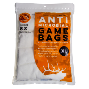 Anti-Microbial Elk Quarter Game Bags 4-Pack