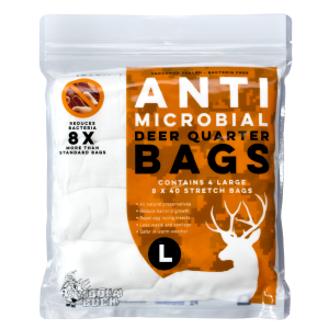 Anti-Microbial Deer Quarter Game Bags 4-Pack