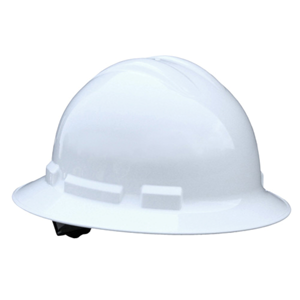 Full Brim Hard Hat with Ratchet Headgear