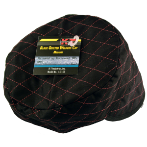 Black Quilted Skull Cap