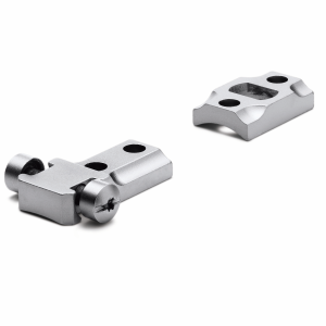 STD Savage 10/110 Round Rcvr Silver 2-pc Mount