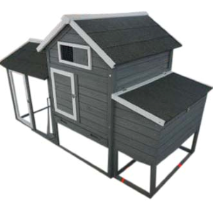 Solid Wood Chicken Coop with Enclosed Run