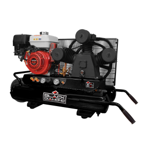 9 HP 9 Gallon Twin Tank Wheelbarrow Air Compressor
