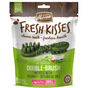 Fresh Kisses Double Brush Dental Treats - Small Dog
