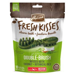 Fresh Kisses Double Brush Dental Treats - Medium Dog
