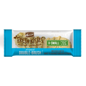 Fresh Kisses Double Brush Mint Dental Treats - XS Dog